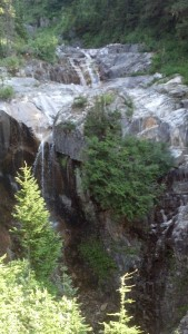 The first time I hiked this trail, I was too miserable to notice the beautiful waterfall.