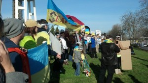 My first ever protest, supporting Ukraine in Seattle, January 2014