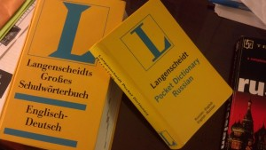 German and Russian language books