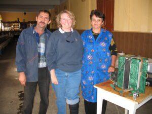 Meeting new friends in my ancestral town of Kulm (Pidhirne), Ukraine