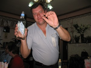 """Chut chut?"" asked my generous host, Vova, as he gestured with the vodka bottle."