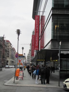 2015: What was once a drab street in East Berlin is now filled with upscale stores.