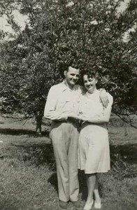 My mom and dad, sometime in the 1940s probably