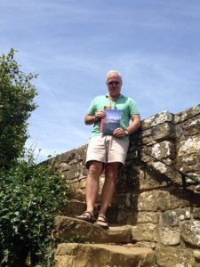 Scott on the ramparts of Battle Abbey