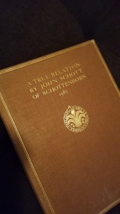 English translation of Johann Schott von Schottenborn's book on the family history.