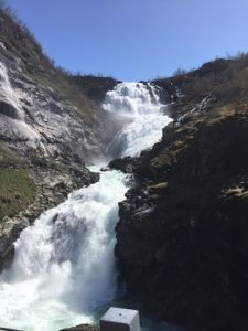 waterfall on Norway travels