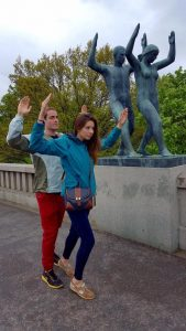 Garret and I goofed off a bit at Vigeland Park