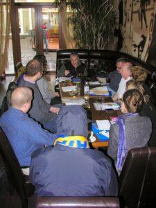 Our observer team divides up precincts and makes plans