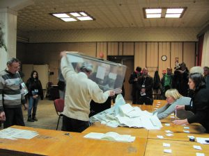 The ballot count begins